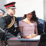 Meghan Markle's Pink Dress at Trooping the Colour 2018