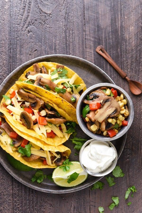 Mushroom Gouda Tacos