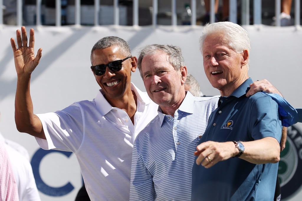 Bush, Obama, and Clinton Golf Photos at 2017 Presidents Cup
