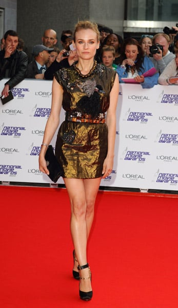 One of her shorter stunners, a moody metallic Lanvin mini from May of 2010.