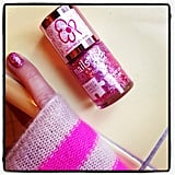 Poppy Delevingne showed off her Breast Cancer Awareness support.  Source: Instagram user poppydelevingne