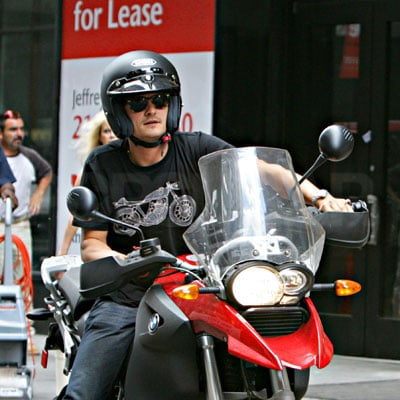 Orlando Bloom on His Motorcycle 2008-08-19 14:20:04
