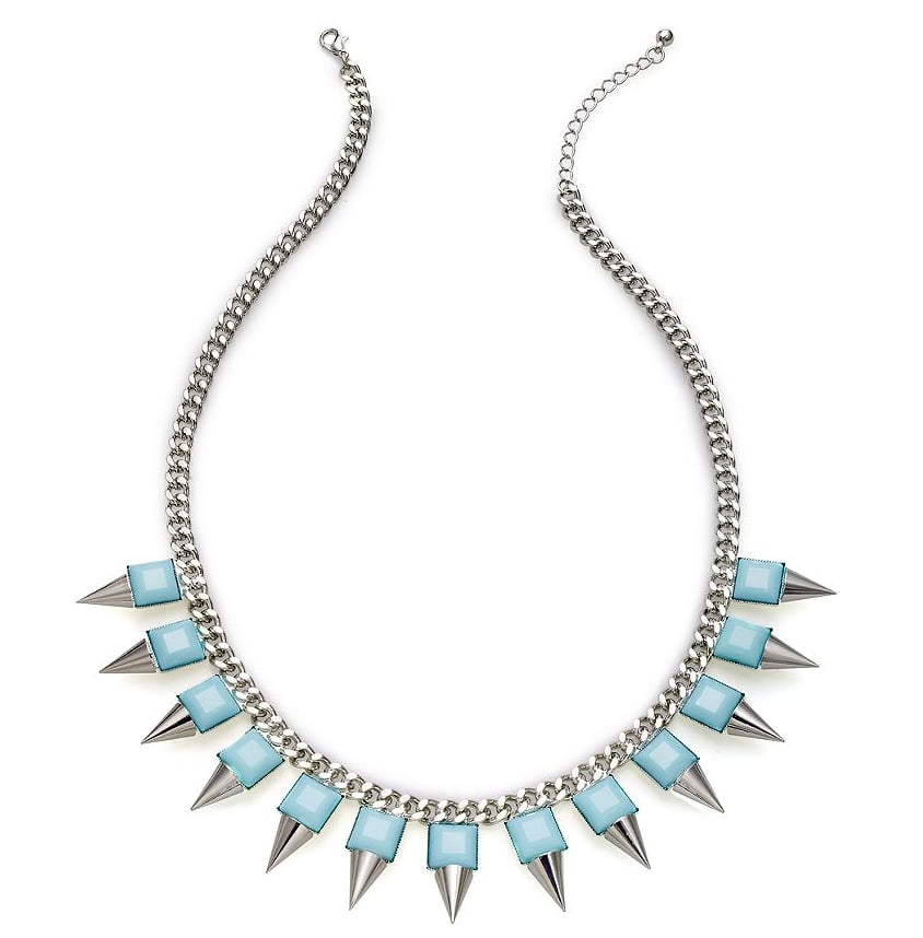 Pops of baby blue inject a soft, pastel touch to this Bar III studded necklace ($28).