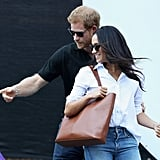 The previous day, Harry and Meghan made their very first public appearance as a couple at the wheelchair tennis event.