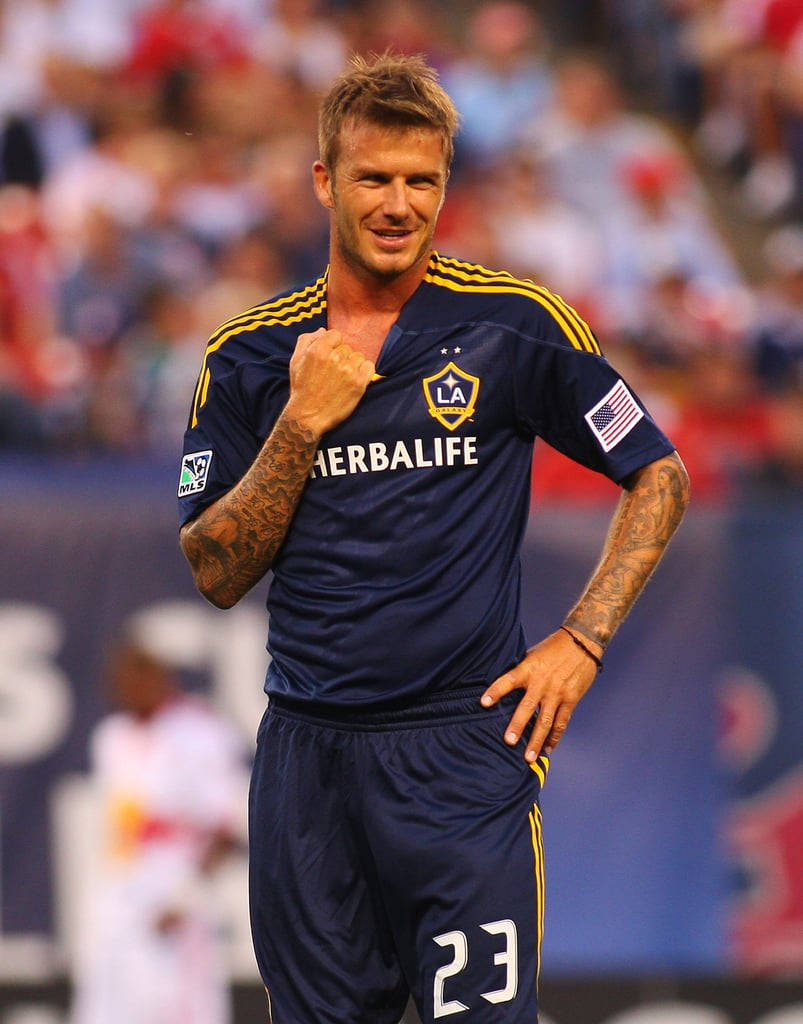Photos of Shirtless David Beckham Playing Soccer ...