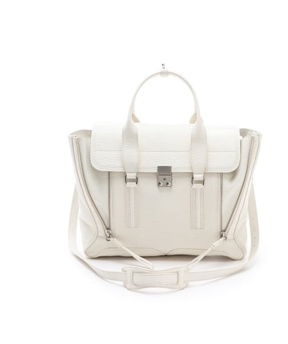 The 3.1 Phillip Lim Pashli Satchel ($895) gets a white-hot finish.