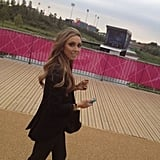 Giuliana Rancic checked out Olympic Park.  Source: Twitter user GiulianaRancic