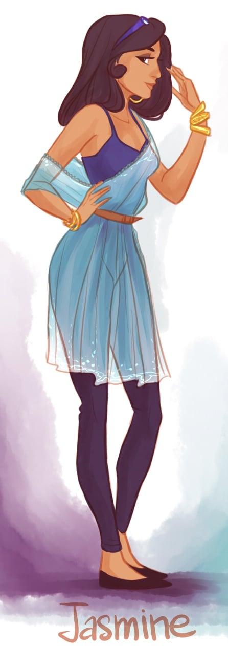 Assured, disney princesses as hipsters consider