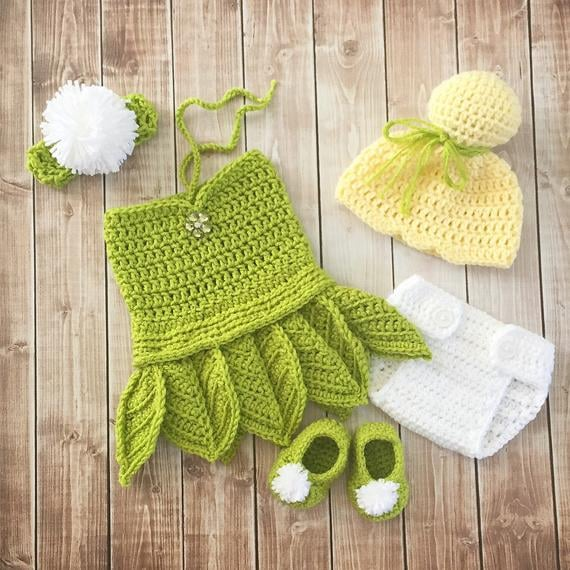 Tinkerbell Diy Newborn Costumes For Halloween And Photo Shoots