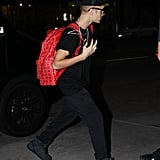 Justin Bieber wore jeans to spend time with Selena Gomez in LA.