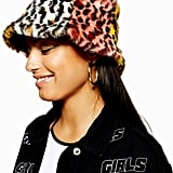 Topshop Mixed Animal Print Faux Fur Bucket Hat