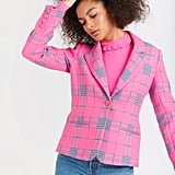 Tanya Taylor Waverly Pink Plaid Blazer