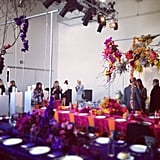 Table settings that put all others to shame. These were at the Swarovski A/W '13 collection showing during the week.
