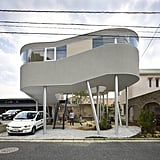 The house was built to resemble a bird's nest.