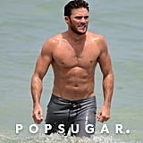 Scott Eastwood Shirtless in Miami Beach July 2017
