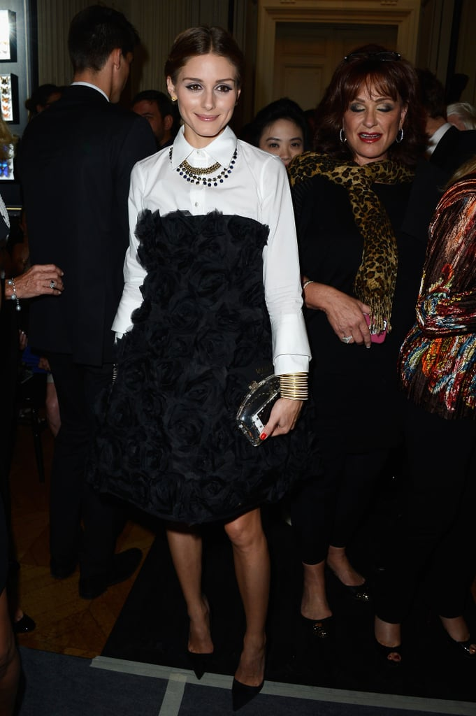 Olivia Palermo had a front row seat at the Valentino show on Wednesday.