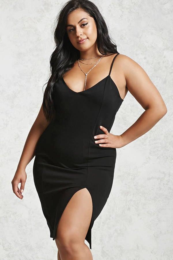 Forever 21 Plus-Size Cami Dress | Gigi Hadid Wearing Black Paco ...