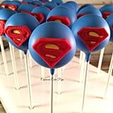 Superman Superhero Cake Pops