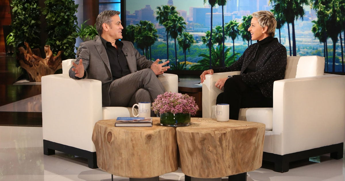 George Clooney Talks Proposing to Amal on Ellen | POPSUGAR