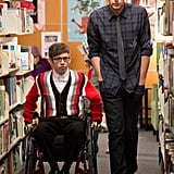 """Artie and Finn stroll the library in """"Naked."""""""