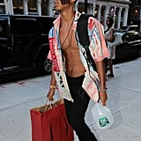 Jaden Smith Showing His Abs in NYC July 2016
