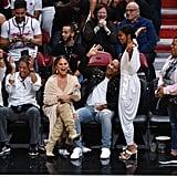 Chrissy Teigen and John Legend at Dwyane Wade's Last Game