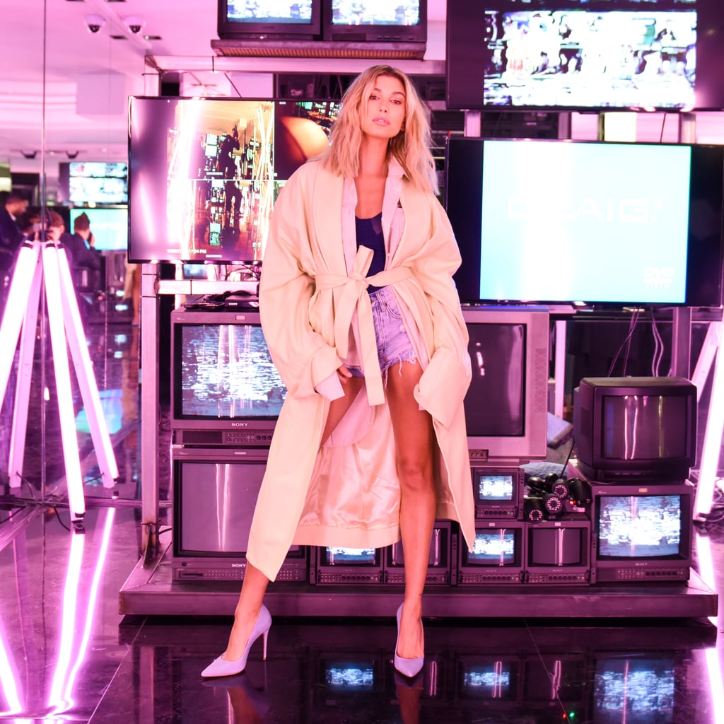 You Need to See Hailey Baldwin's Glorified Afterparty Slippers