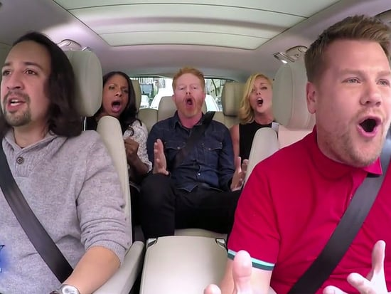 Hamilton Star Lin-Manuel Miranda Joins James Corden for Broadway-Themed 'Carpool Karaoke'