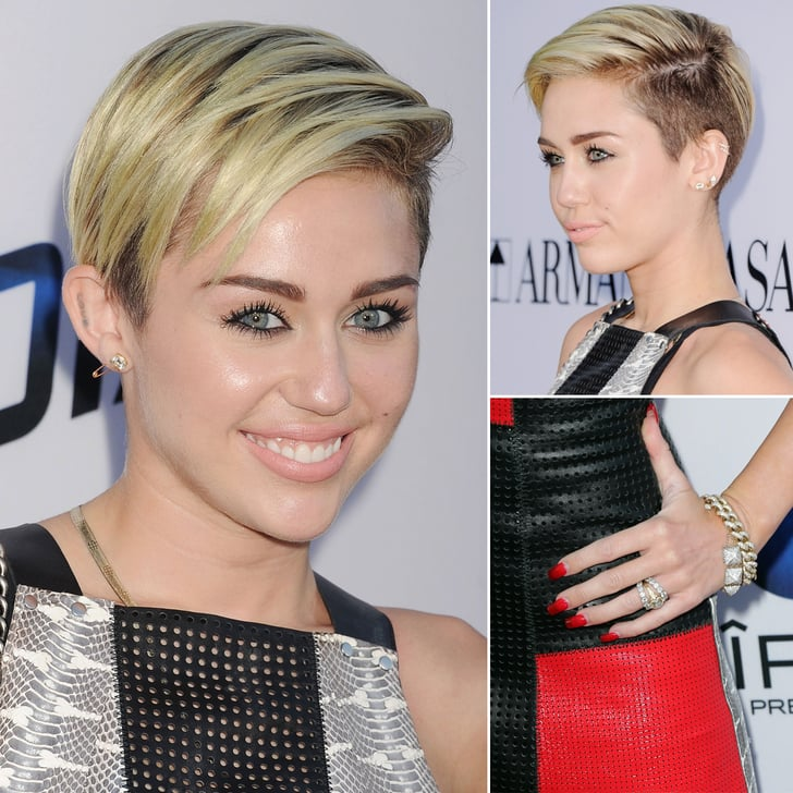 Check Out Miley's Transparent Manicure — and Her Huge Engagement Ring!