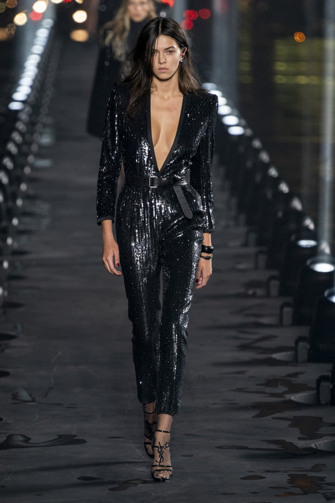 Naomi Campbell Closed Saint Laurent Spring 2020 Show