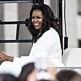 Michelle Obama White Dress October 2018