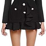 Alessandra Rich Ruffled Double Face Wool Blazer Dress