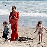 Nicole Richie documented Easter, taking photos of Harlow and Sparrow on the beach in Malibu.