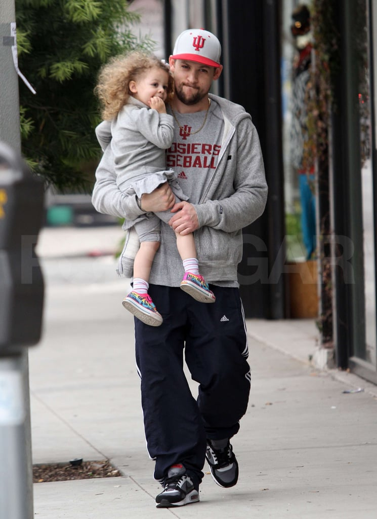 Joel Takes a Long-Haired Harlow Out on the Town While Nicole Shops Around