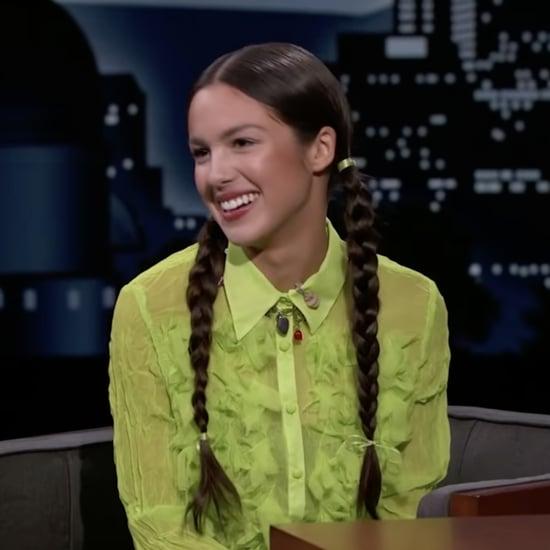 Olivia Rodrigo's Pigtail Braids on Jimmy Kimmel Live