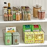 mDesign Metal Wire Food Organiser Storage Bins