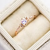 14k Diamond Moonstone Cluster Ring
