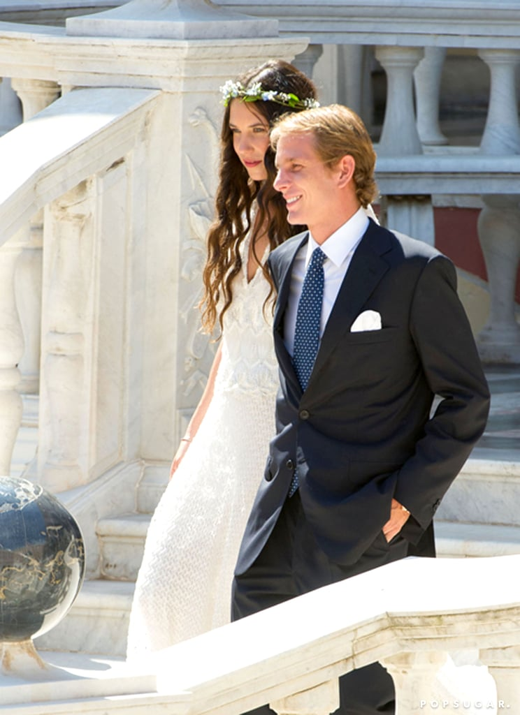 Andrea Casiraghi tied the knot with Tatiana Santo Domingo in Monte Carlo on Saturday.