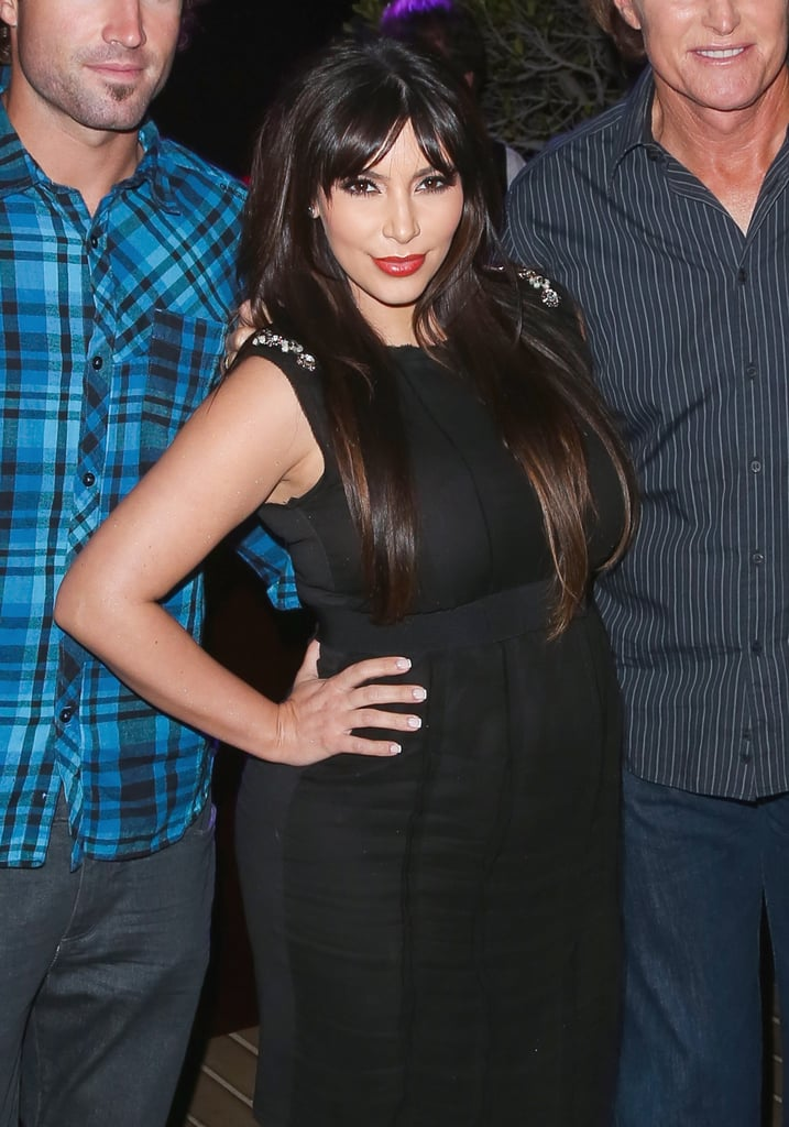 Kim Kardashian Wearing Bangs