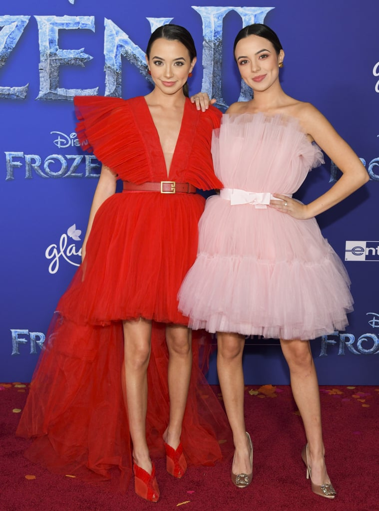 Veronica and Vanessa Merrell at the Frozen 2 Premiere in Los Angeles