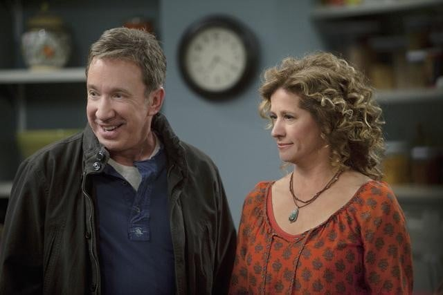 Tim Allen and Nancy Travis in ABC's Last Man Standing.