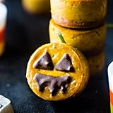 Mini Pumpkin Vegan Cheesecake Jack-o-Lanterns