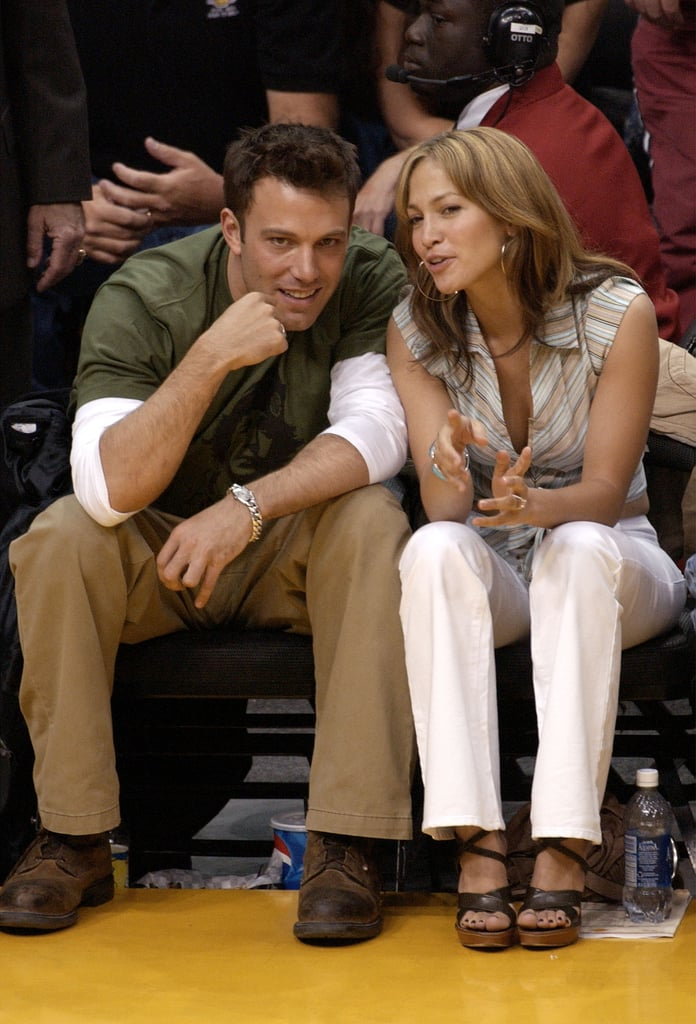 Both played it casual courtside at the Lakers game in 2003.
