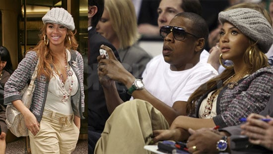 Photos of Beyonce and Jay-Z Watching NBA Playoffs