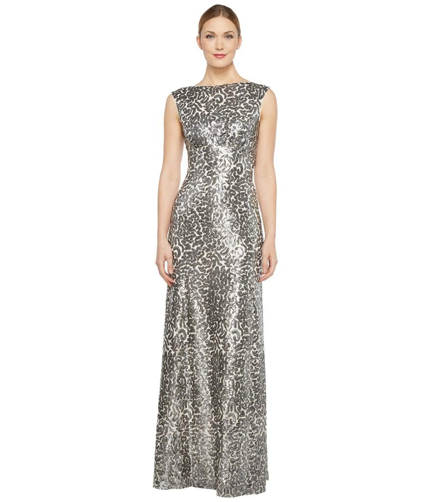 Donna Morgan Dress | Melania Trump Wearing Silver Monique ...