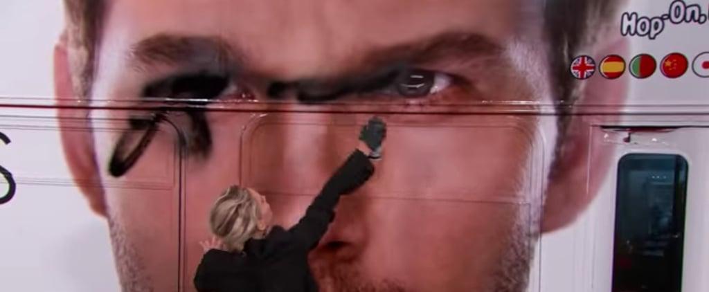 Jennifer Lawrence Spray-Painting Chris Pratt on Kimmel