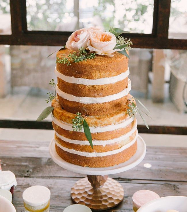 Sweet And Simple Naked Wedding Cakes