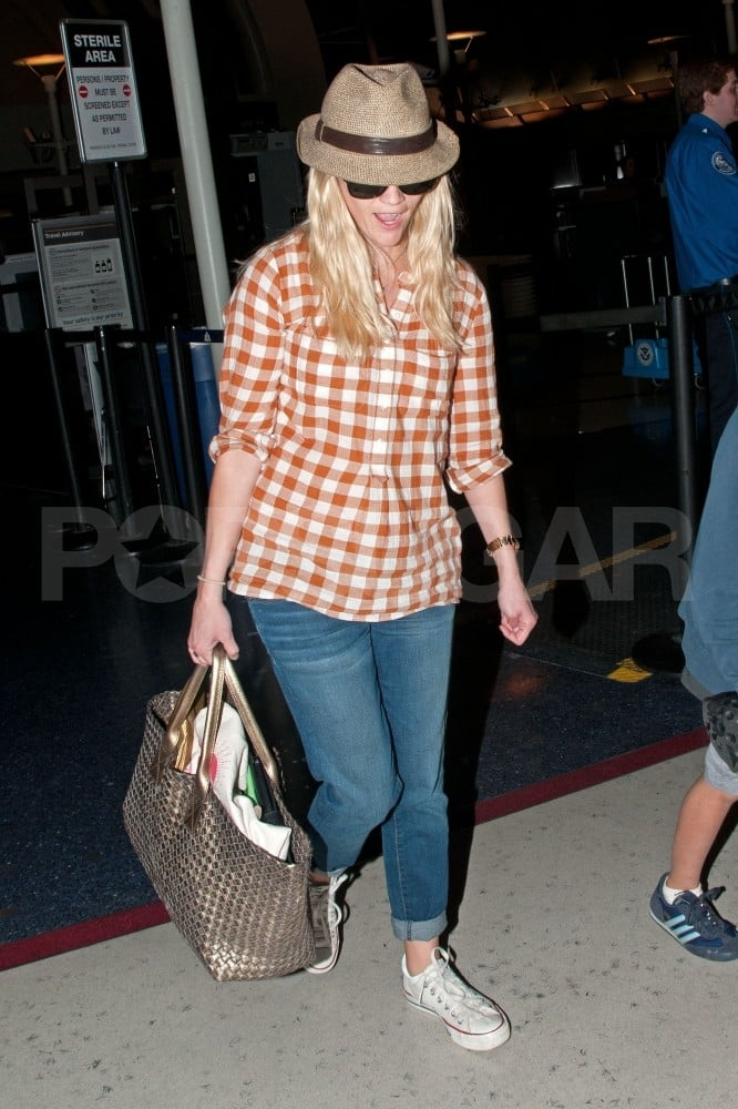 Reese Witherspoon, Ava, Deacon, and Jim Toth Return From Family Weekend in Nashville