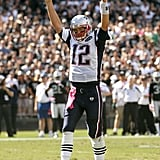 Tom Brady celebrated a play.