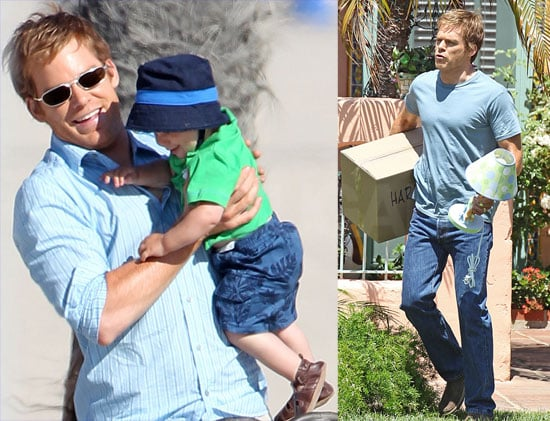 Michael C. Hall Goes on the Move and Plays Daddy on the Dexter Set